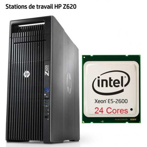 Station HP Z620 Biproc E5 24cores and 32 go de mémoire